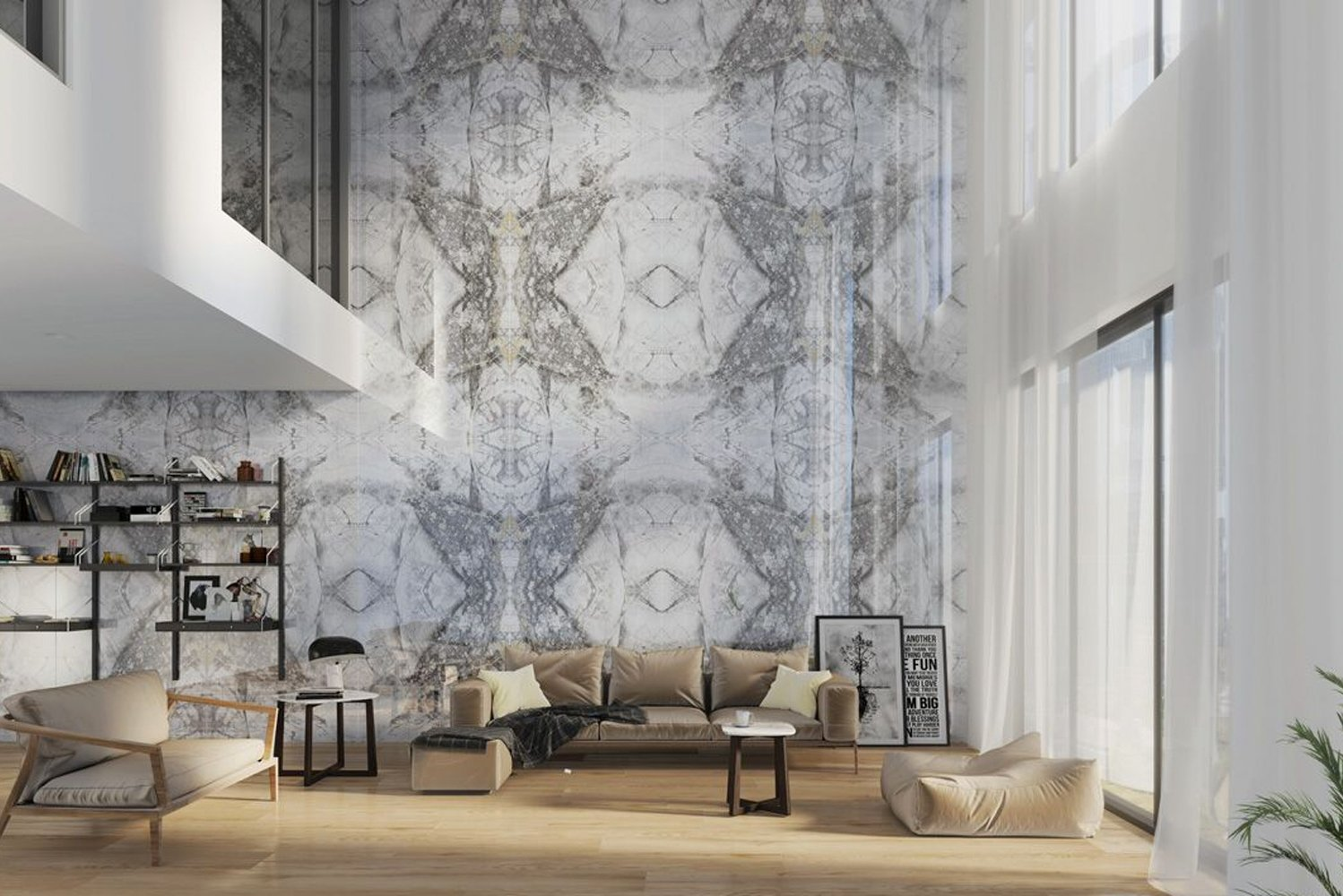 Introducing Lapicida's Artis collection, which offers a cost-effective way to approximate the look of various materials like marble, quartz or even wood.