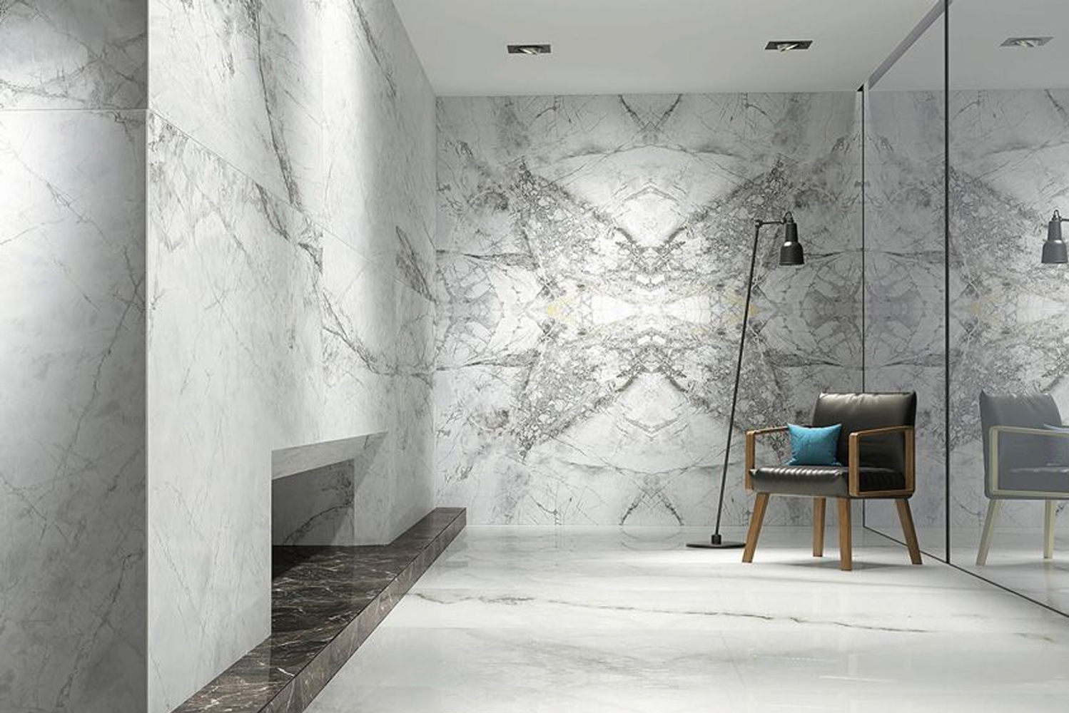 Made of porcelain, these tiles have a range of applications, from residential to commercial, floors and walls, and interior and exterior.