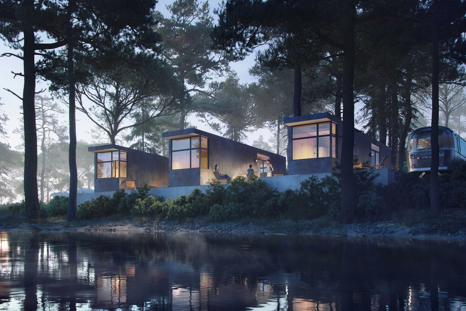 AutoCamp is slated to open its newest property near California's Yosemite National Park in early 2019. Render of AutoCamp suites, design by M-Rad Inc.