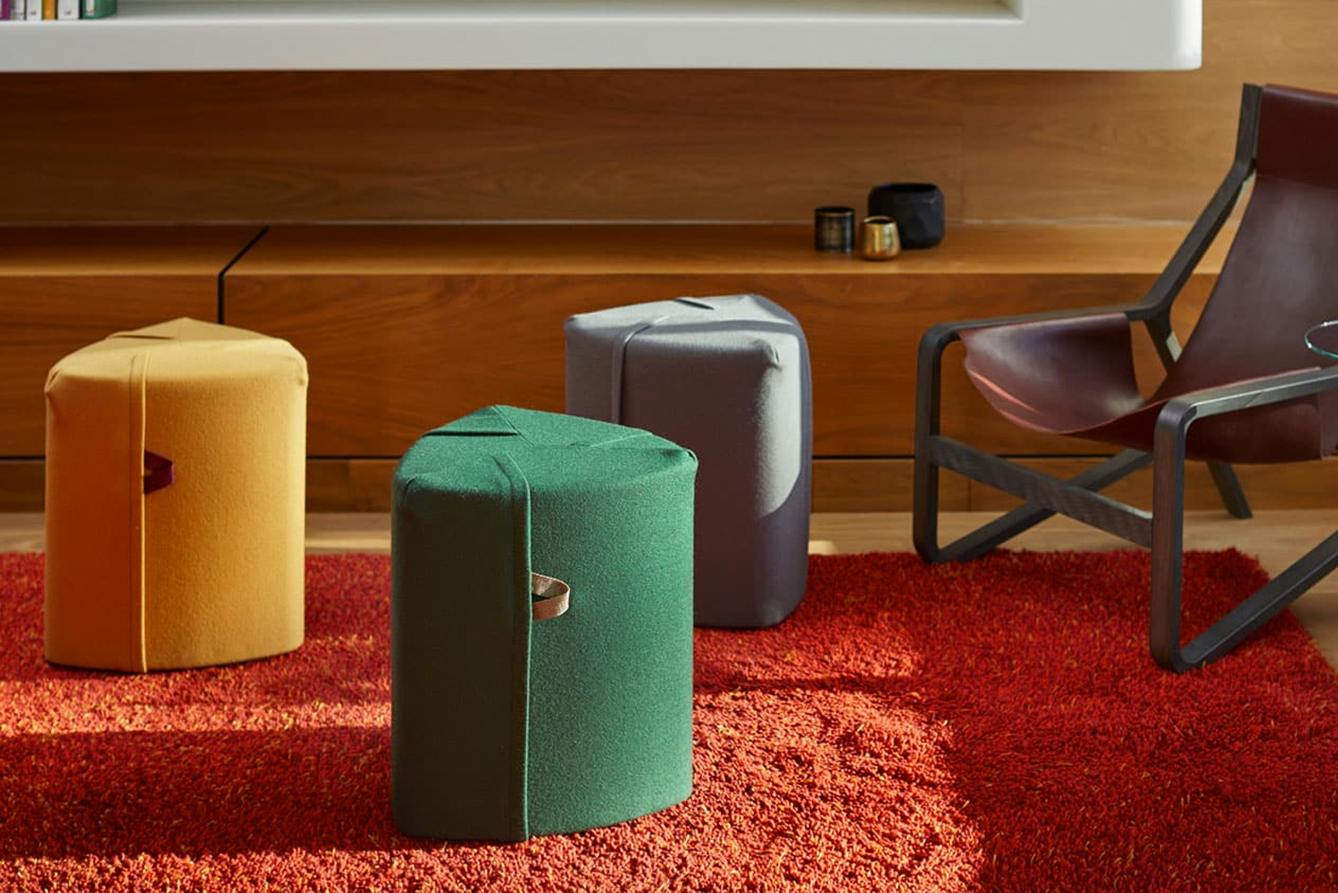 The Campfire Pouf is an adaptable seating option that is ideal for office settings where collaboration is part of the work environment.