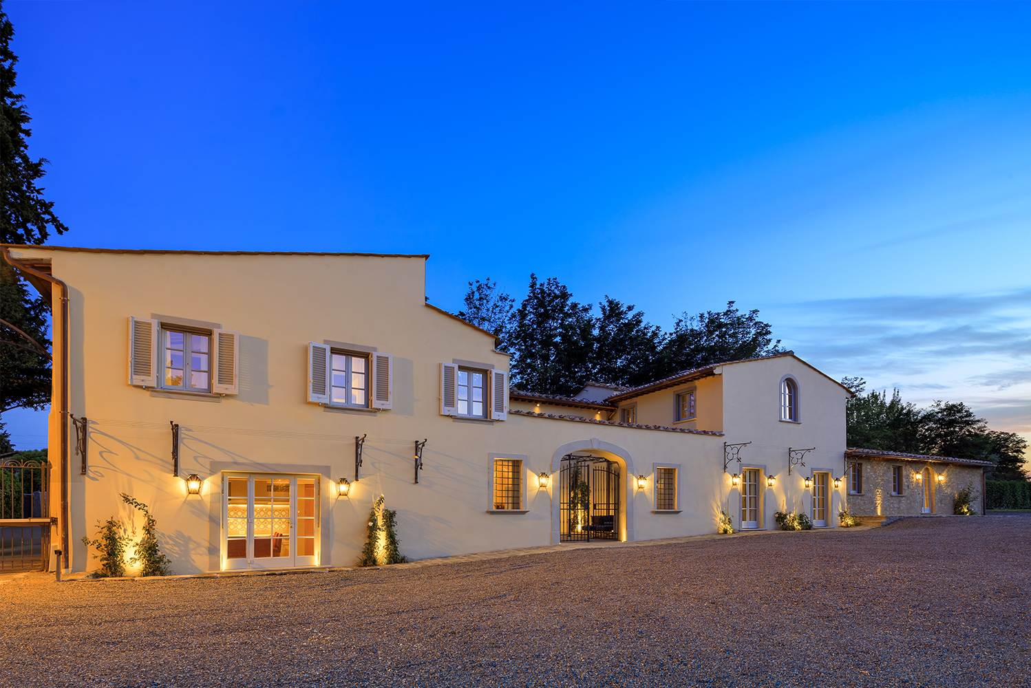 Villa La Massa completed a full-scale restoration of a 19th century farmhouse located on the grounds of the hotel.