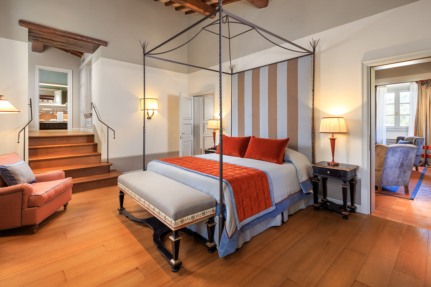 Casa Colonica has four new suites (including a Junior Suite), each with private bathrooms.