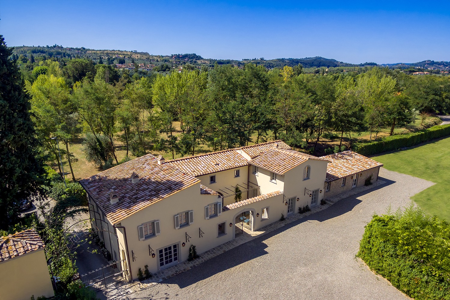 The property was built in the 16th century for a member of the Medici family.