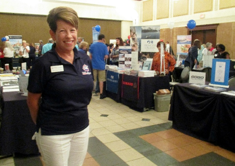 Mary Beth Casey, franchise owner, Expedia CruiseShipCenters, Weston, FL at the South Florida Travel Expo.