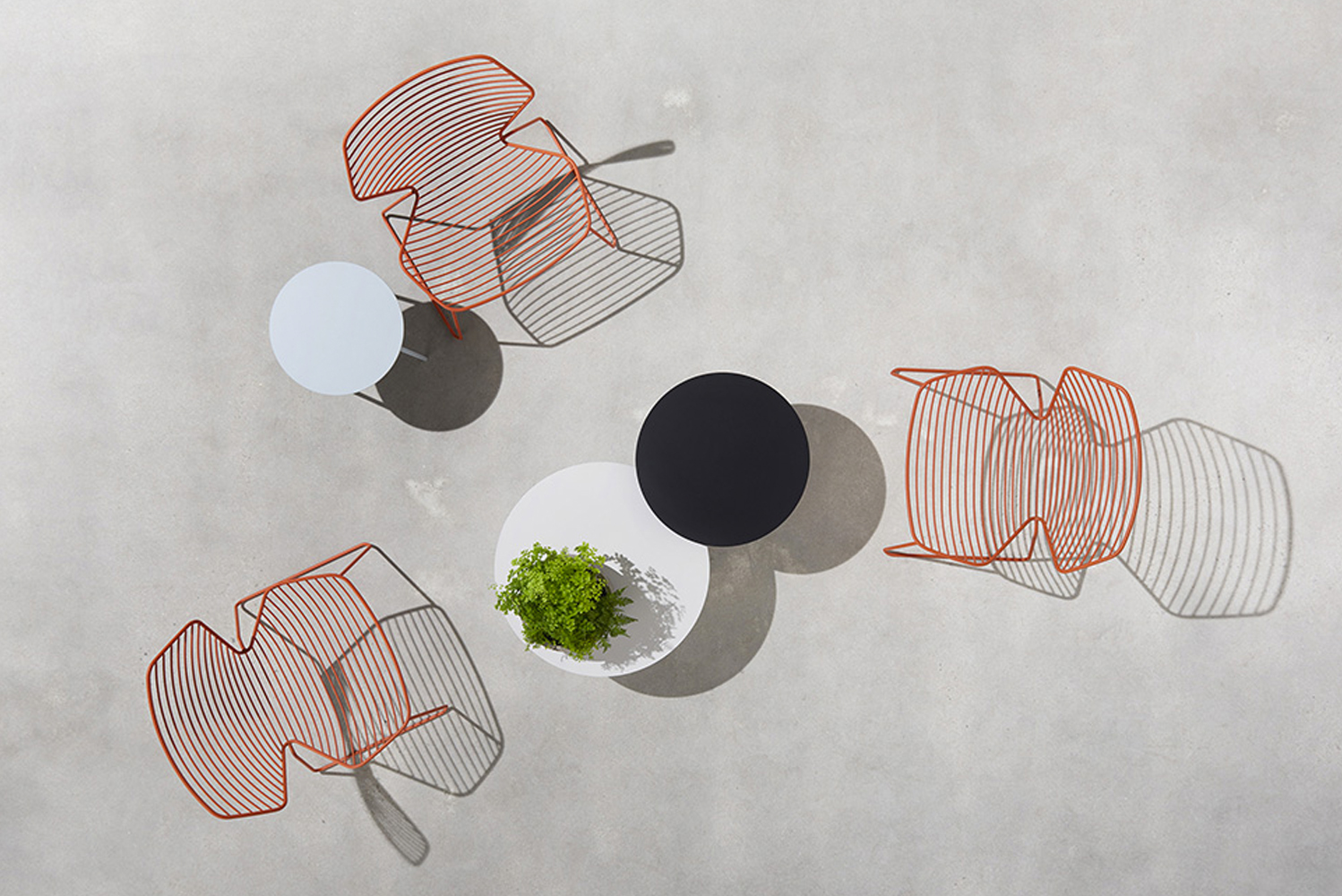 Introducing the Gingko wire lounge by Jehs+Laub for Davis Furniture.
