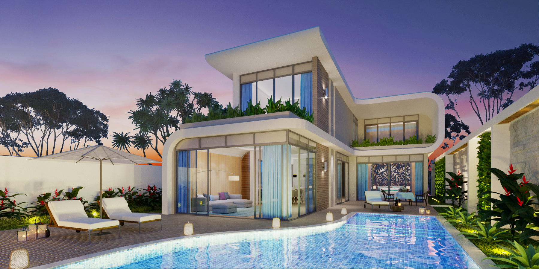 The hotel will also have 36 three-bedroom villas.