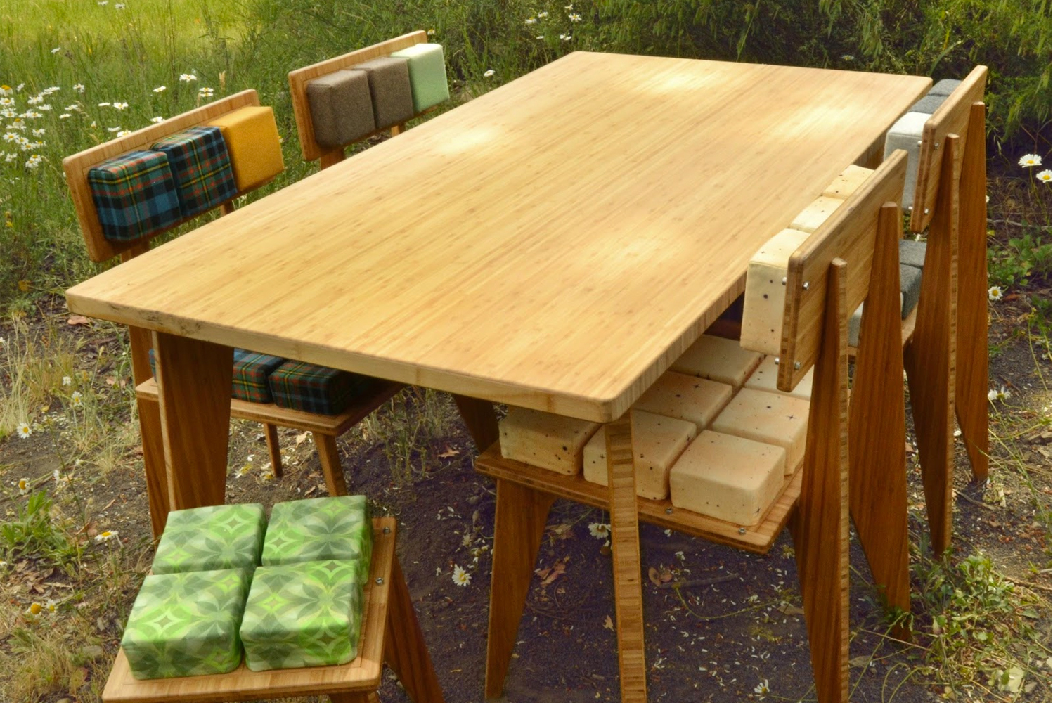 Reforest Design launched a sustainable wood-free furniture line, with numerous upholstery tile customization.