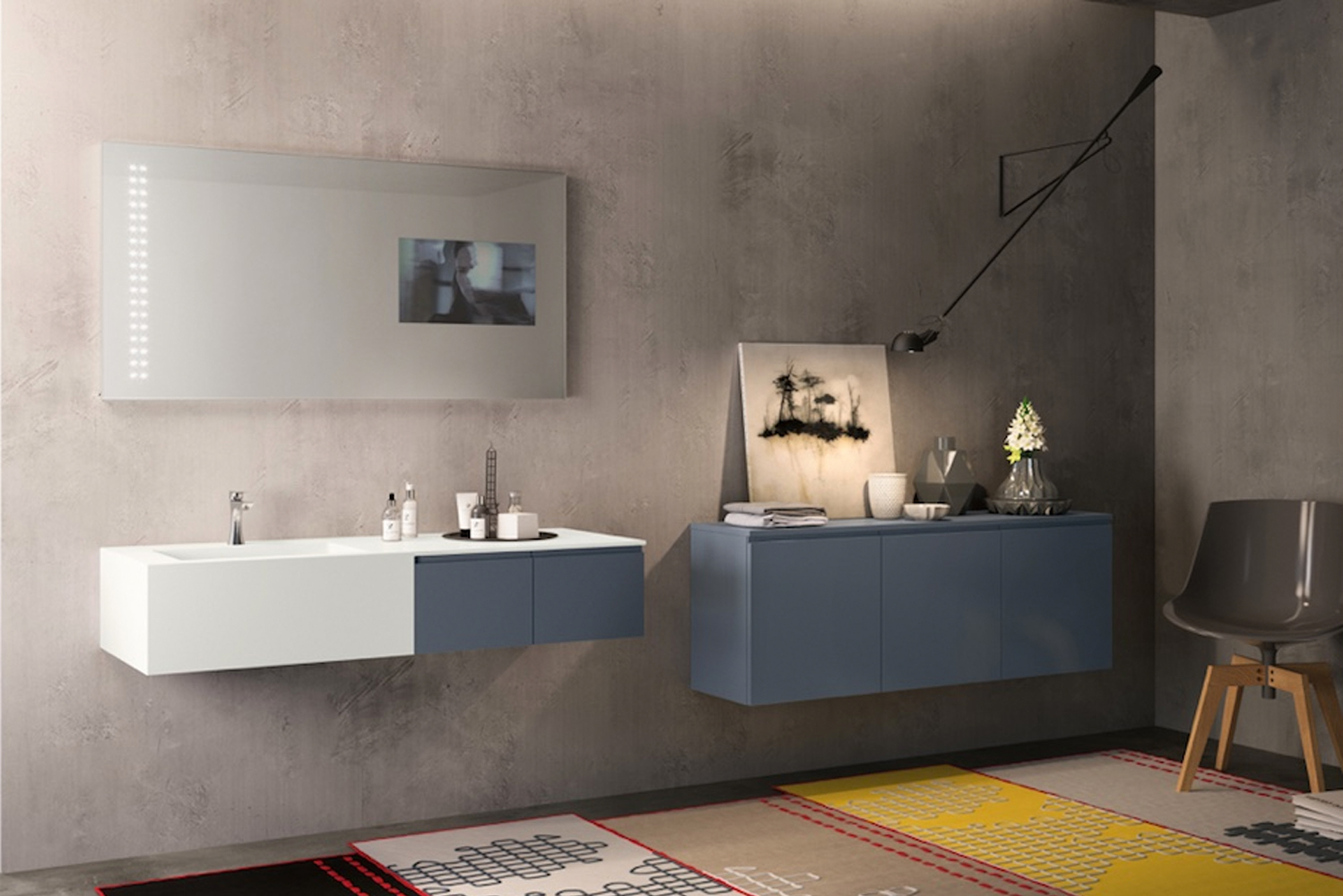 Hastings Tile & Bath launched the Stratos vanities.