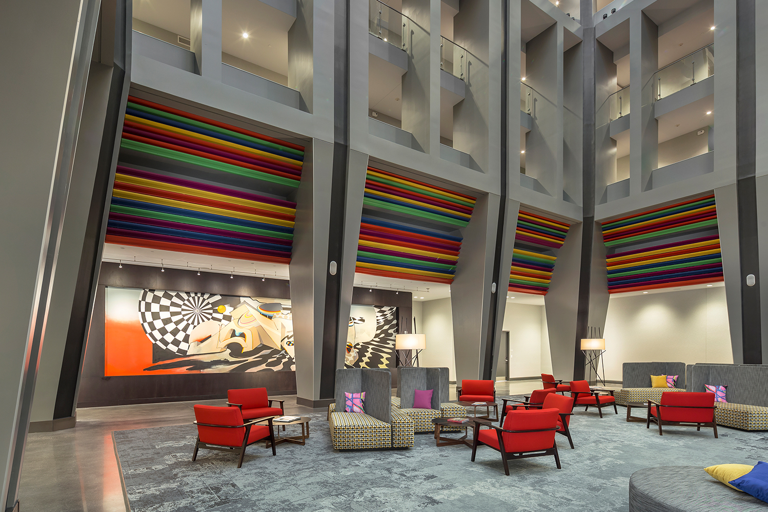 According to Nicole Smith, associate at HBA's Atlanta office, the brief called for a boutique, art centric hotel with an emphasis on attracting meeting groups.