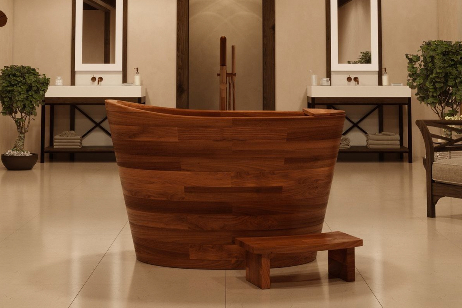 Aquatica launched the True Ofuro Japanese seated soaking tub.