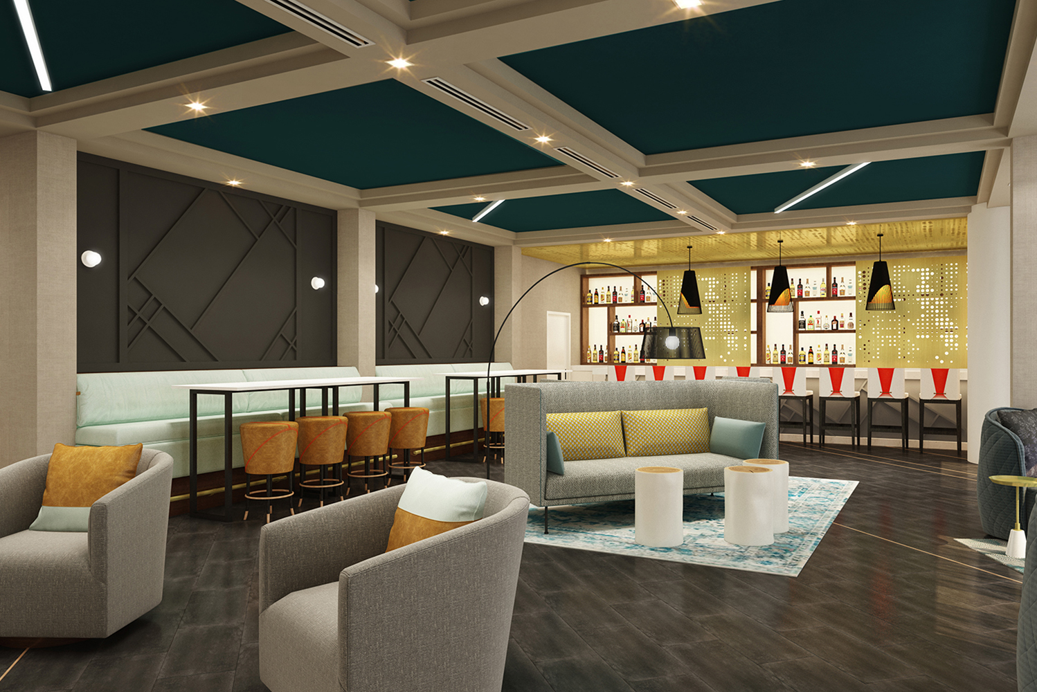 STUDIO 11 of Dallas is the interior designer for the lobby, public areas and meeting space.