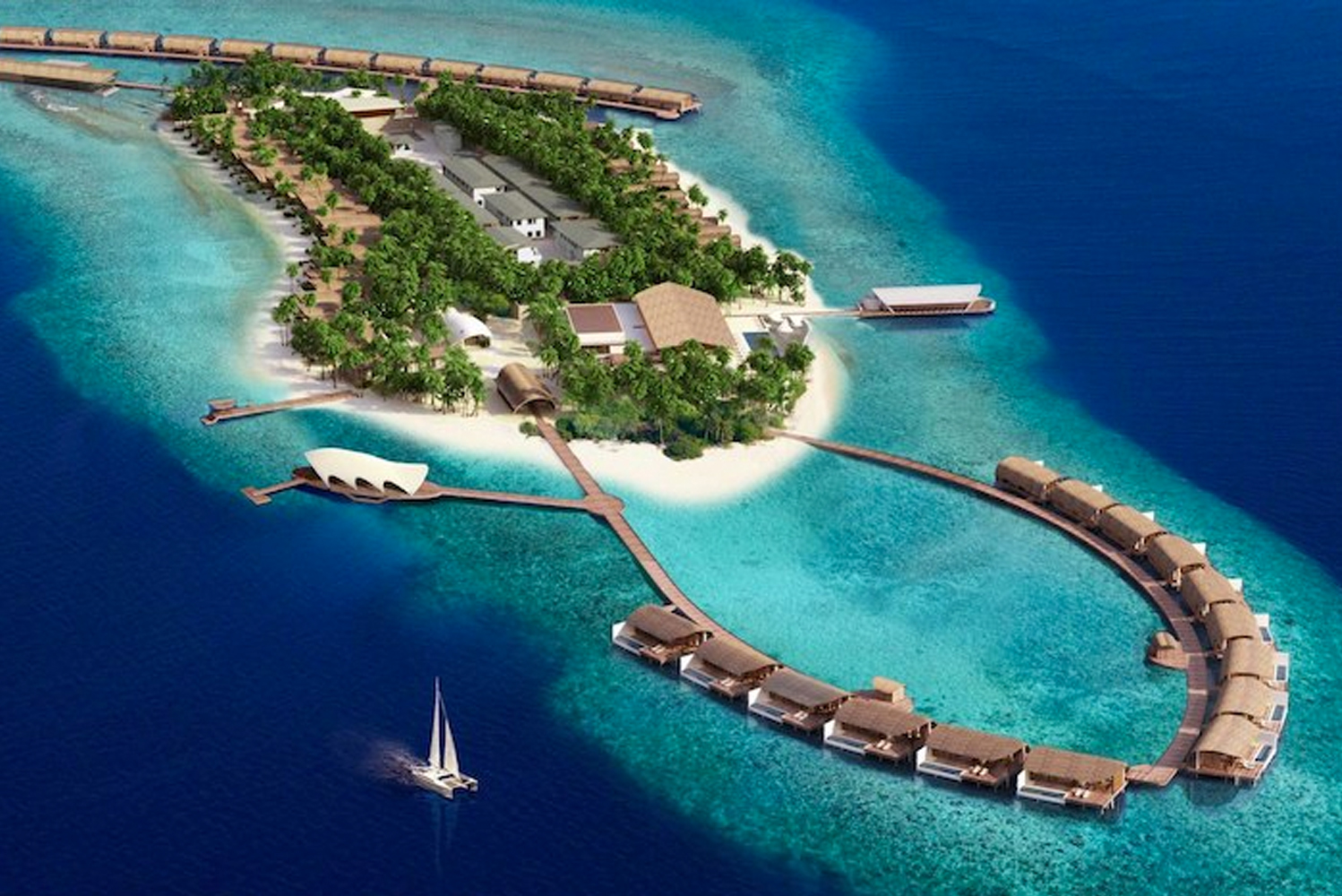 The Westin Maldives Miriandhoo Resort is scheduled to open this October.