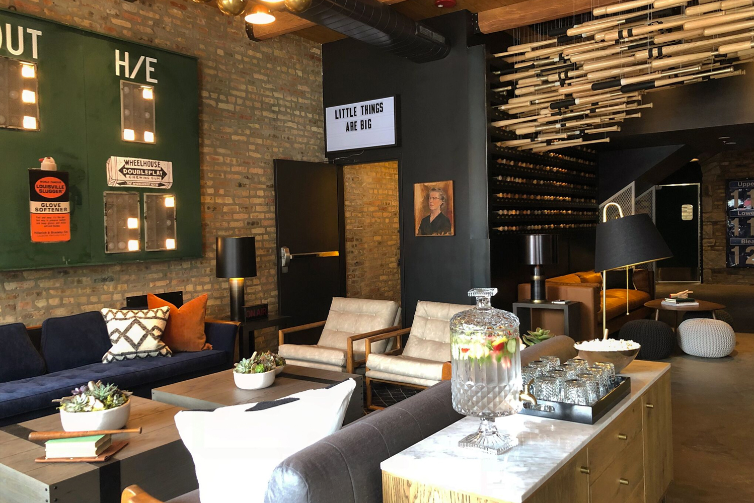 The Wheelhouse Hotel's design blends old and new, with nods to Wrigleyville's baseball history felt throughout the property.