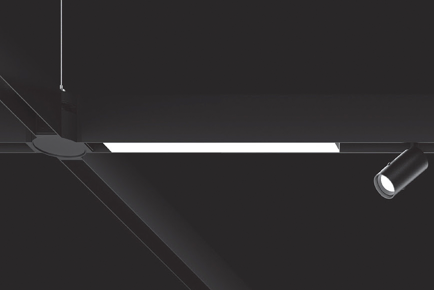 XAL's Move It system of magnetic profile LEDs expanded its aesthetic repertoire courtesy of the new Move It Node.