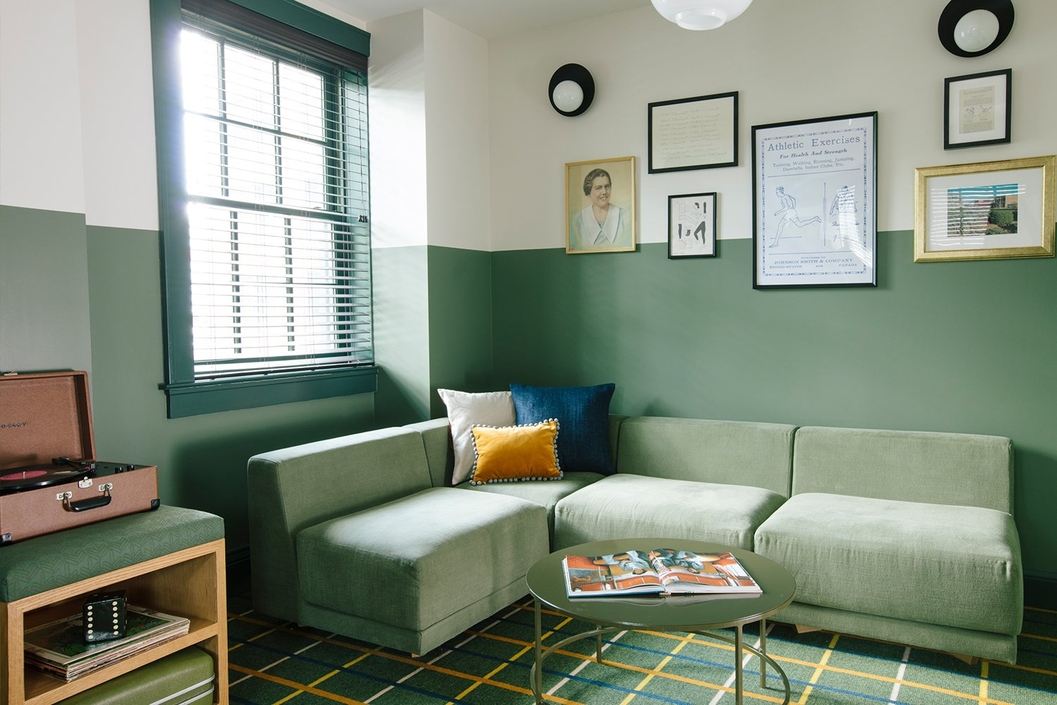 "Inside, the design by New York-based Reunion Goods & Services has a ""rock-n'-roll meets grandma's-living-room"" ambiance."