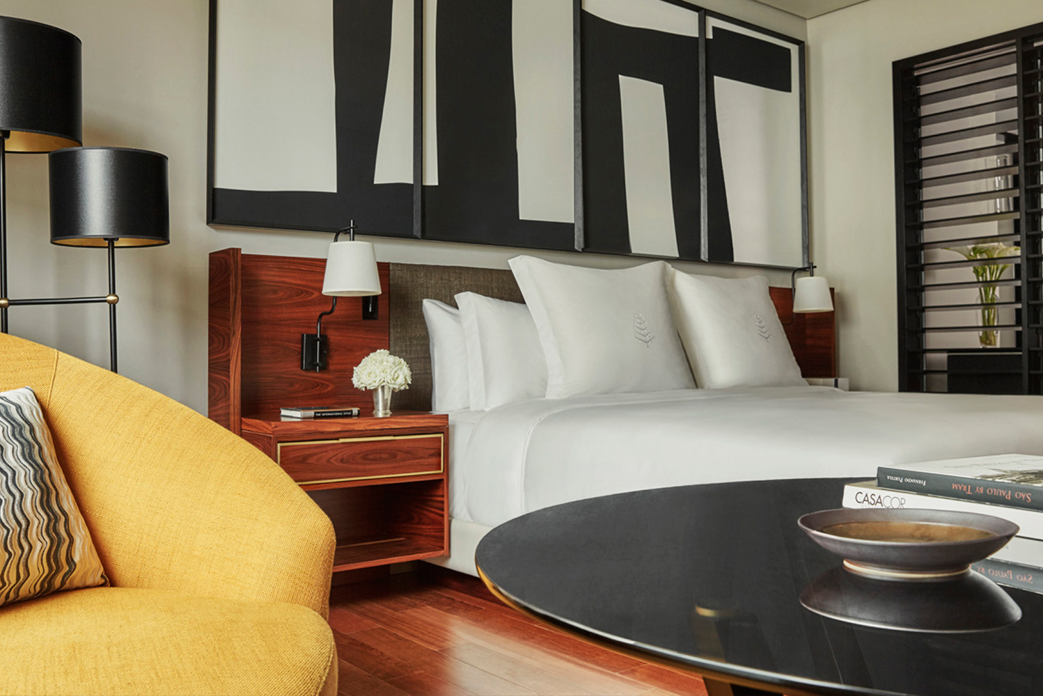 San Francisco-based BAMO was involved in the design of the guestrooms that are reminiscent of a private home.