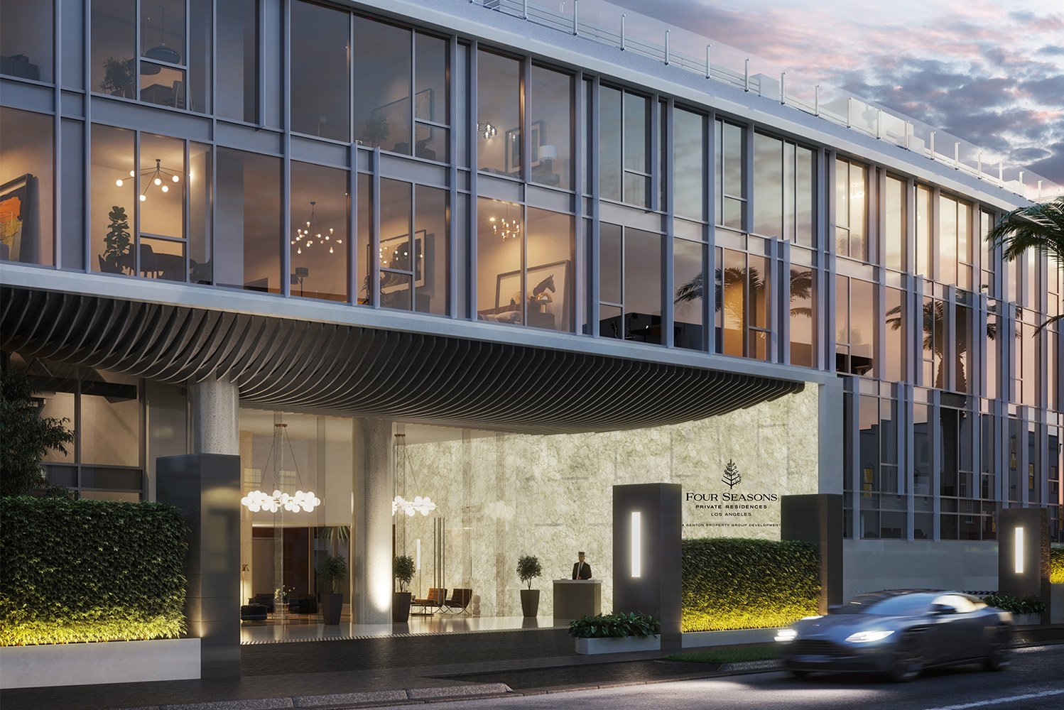 Four Seasons Hotels and Resorts is constructing its first residential project in Los Angeles, developed in partnership with Genton Development Company.