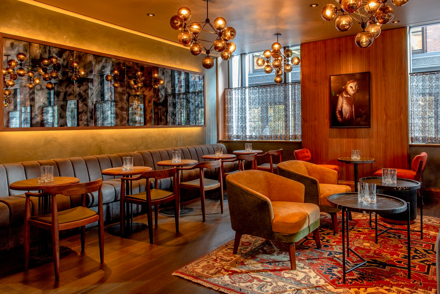 Las Vegas-based design and architecture firm Punch Architecture completed the makeover of the Highball Lounge, the on-site bar/restaurant of Boston's Kimpton Nine Zero.