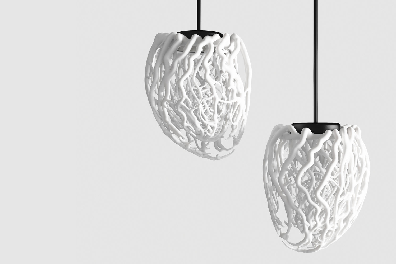 To make the lamp, Sao Paulo-based Requena collected audio files from the heartbeat of three different subjects.
