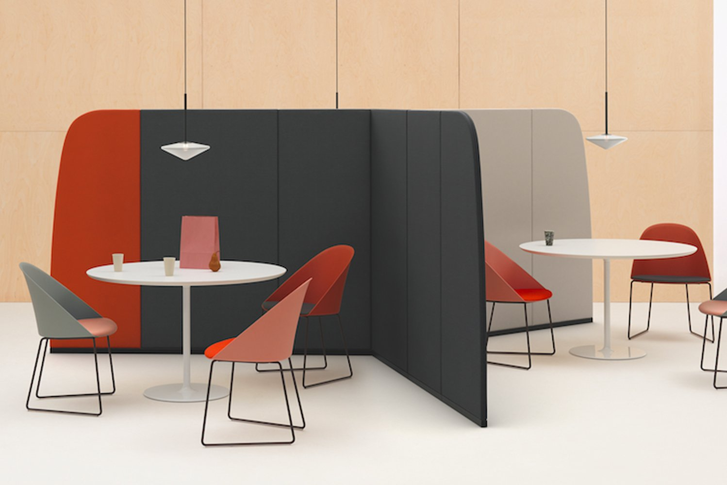 Arper launched Paravan, a modular partition system that is versatile to fit in an array of settings.