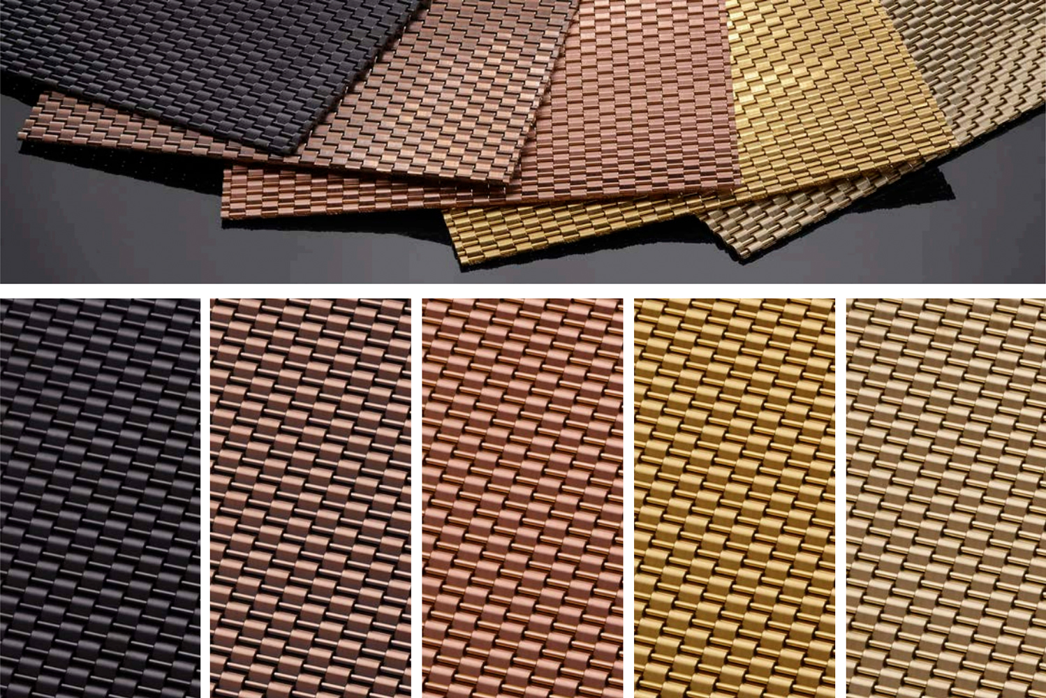 Banker Wire introduced new finishes for its Physical Vapor Deposition (PVD) process to the company's wire mesh offerings.