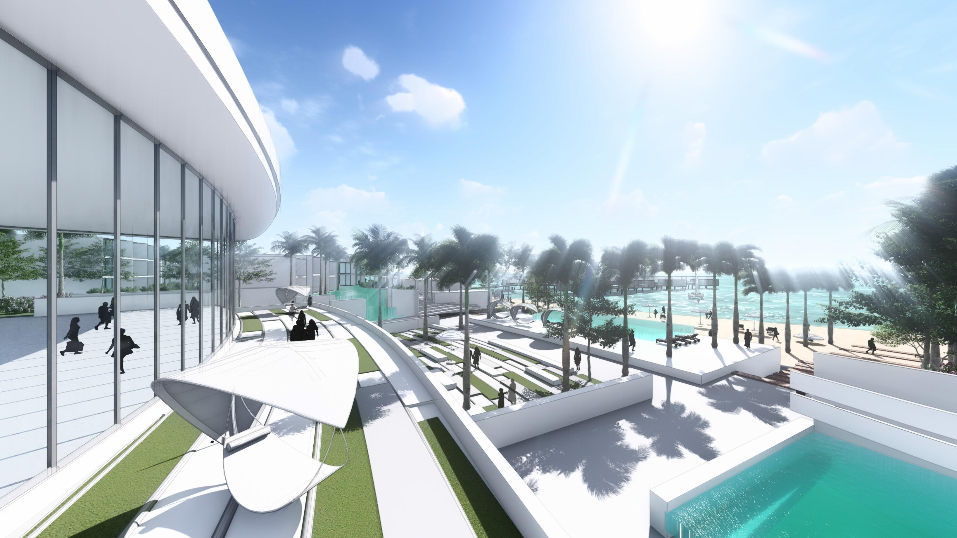 Conrad Marjan Island Resort Lobby Terrace