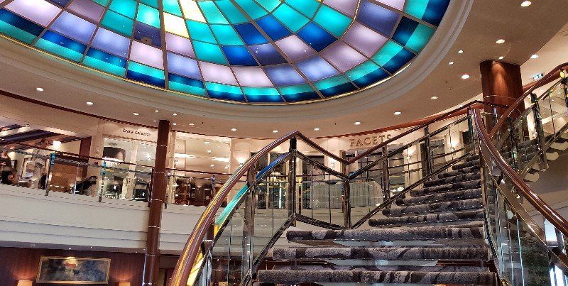 Atrium area of Crystal Serenity