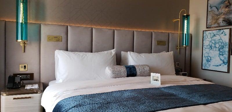 Bedroom area of the Seabreeze Penthouse Suite