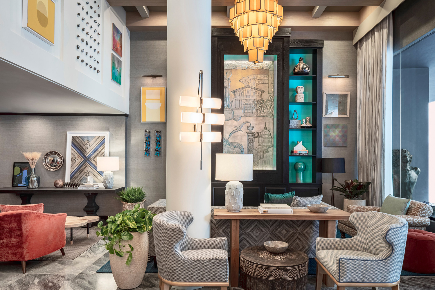 San Francisco's Hotel Triton unveiled its renovated interiors by designer Liubasha Rose and her team at Rose Ink Workshop.