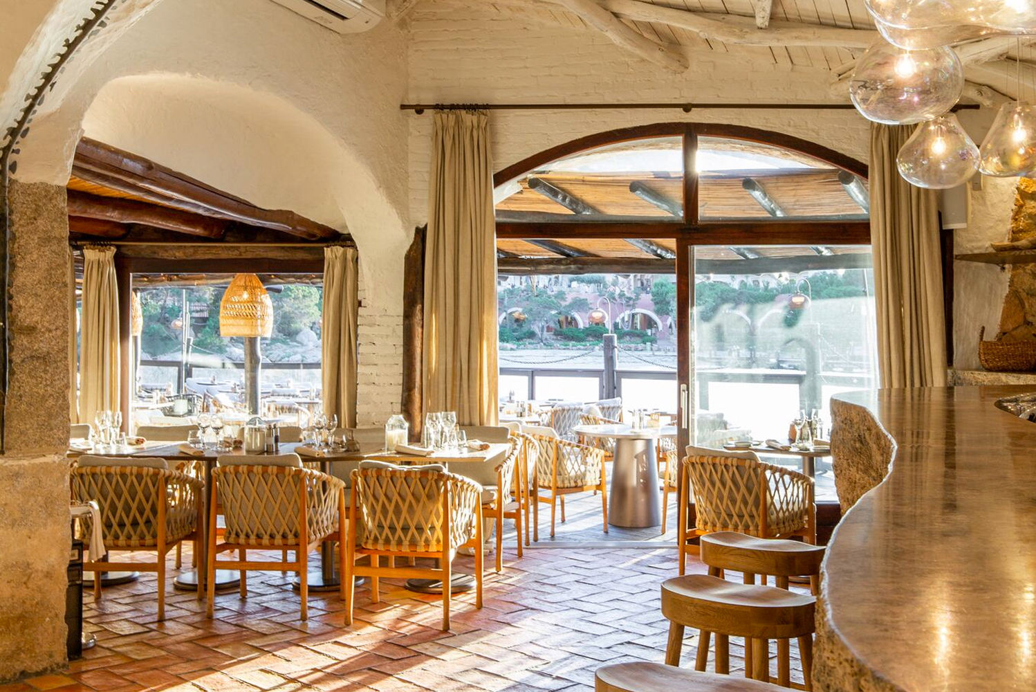 Set within the Sardinian Hotel Cervo, the restaurant is the first of five spaces to be redesigned by Blacksheep.
