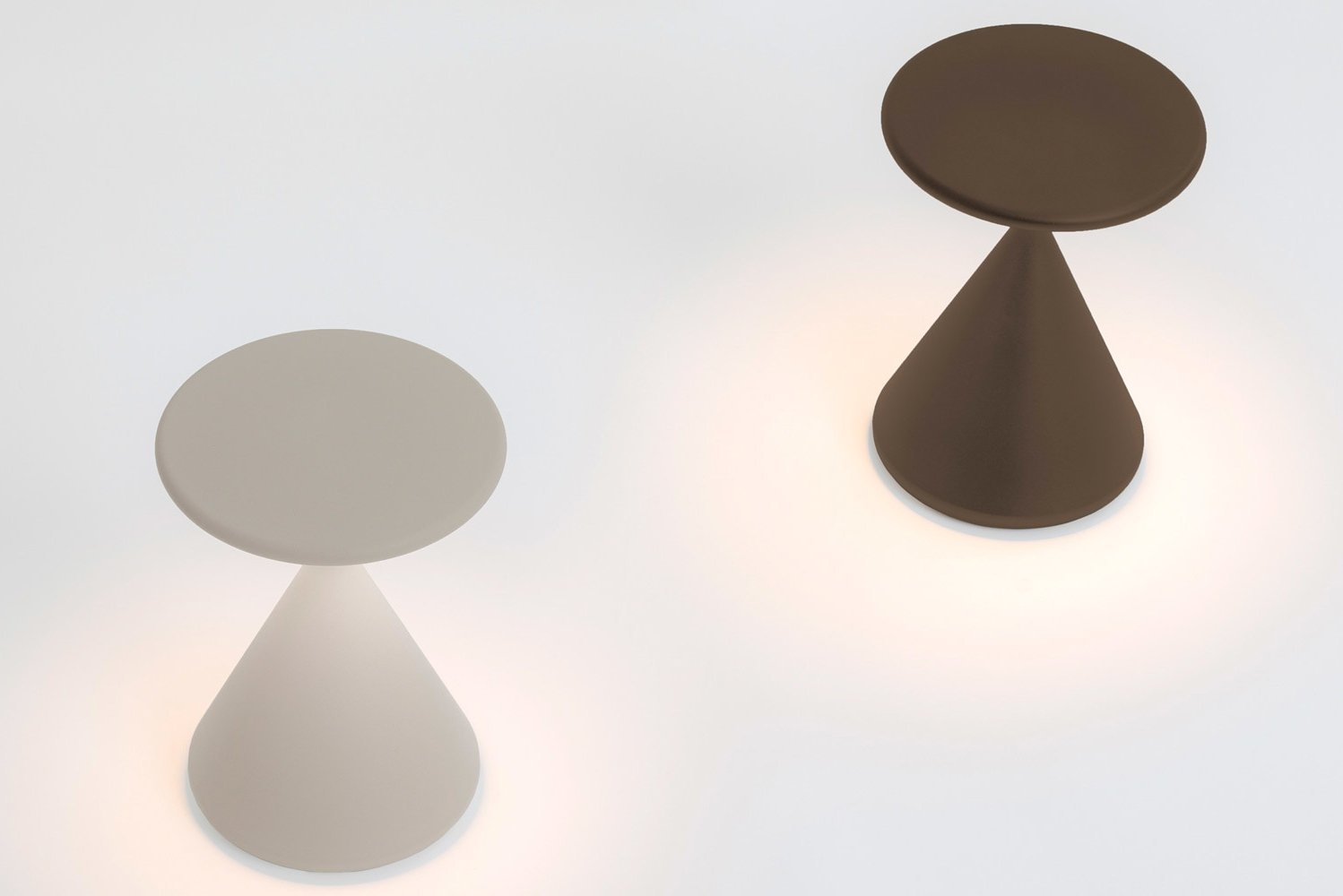 The lamp translates the traditional black and white spice shakers into 21st-century lighting.