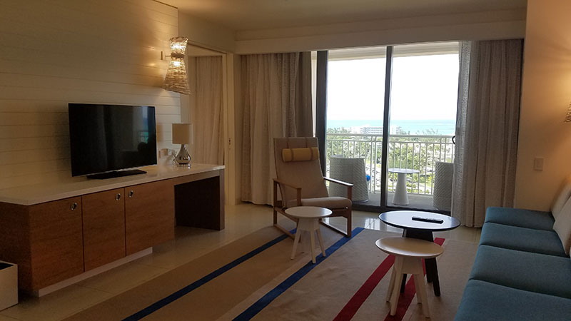 The Grand Executive Suite's living area
