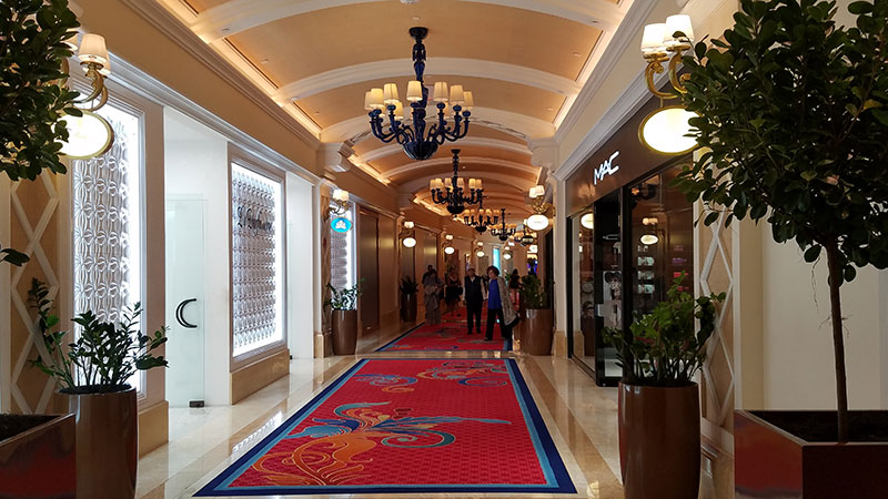 The resort's retail area, just off the casino