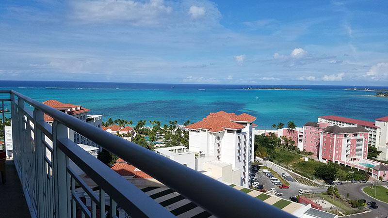 One Bedroom Oceanview Suite's balcony