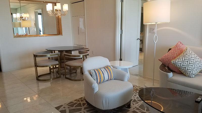One Bedroom Oceanview Suite's living area