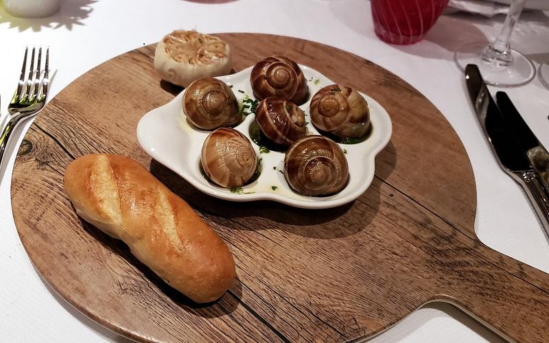 Escargots appetizer in Rudi's Sel de Mer