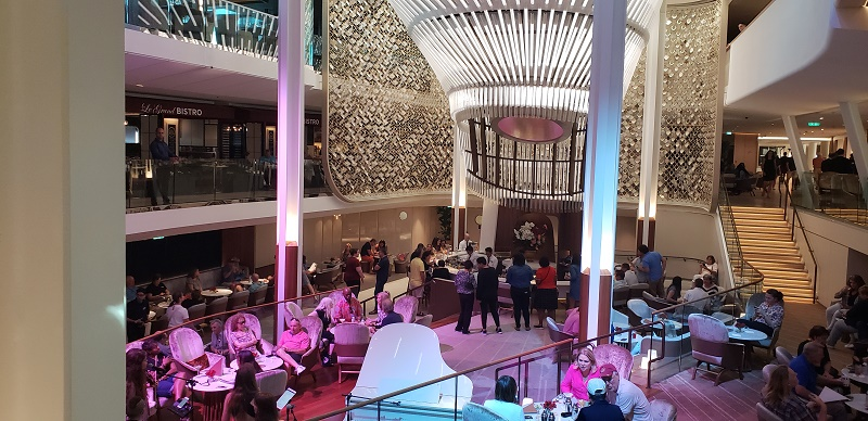 "Celebrity Edge's ""Modern Luxury"" atrium or Grand Plaza"