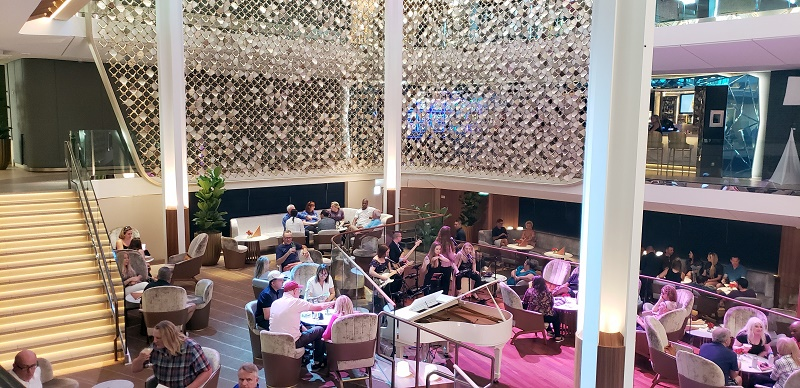 Live entertainment in Celebrity Edge's Grand Plaza