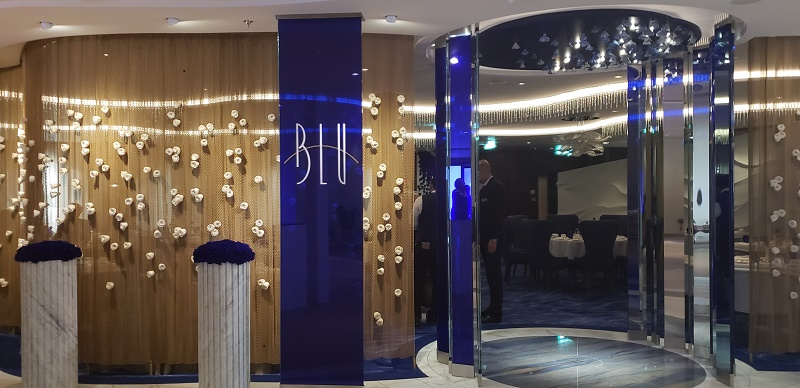 Specialty Restaurant, Blu, by invitation only.