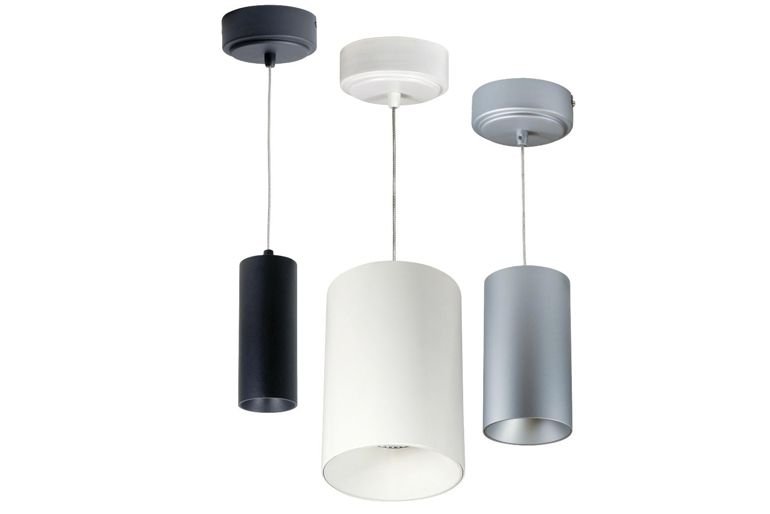 The Nora Ilene LED mini cylinder is a luminaire that can be surface mounted or installed as a cable pendant.