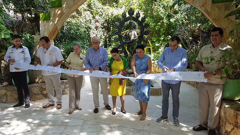 A ribbon cutting ceremony for the new resort