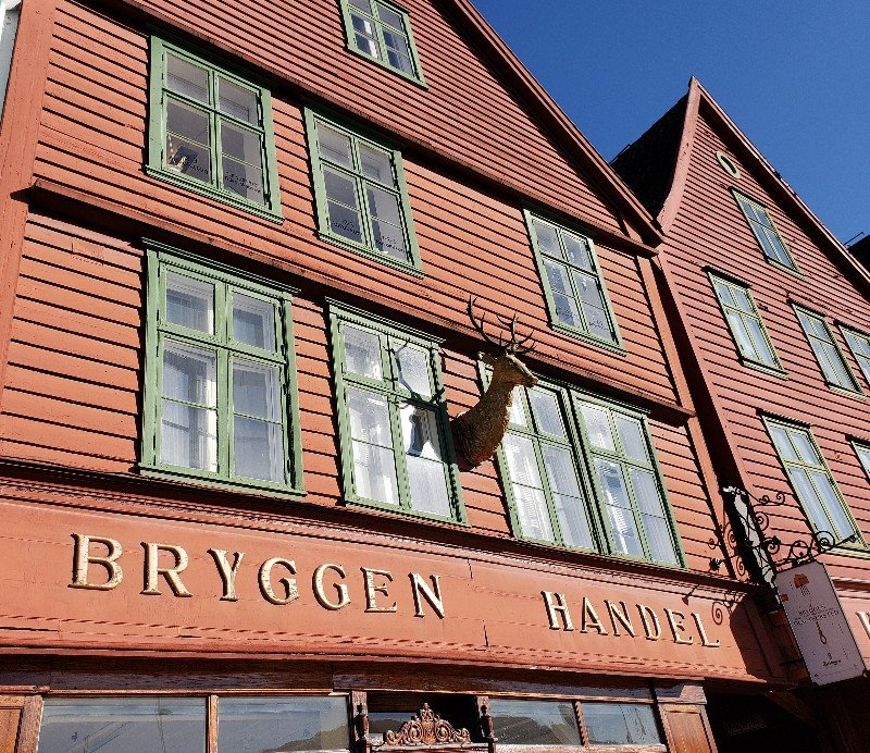 Old wooden structure in Bryggen