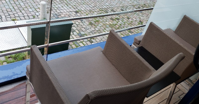 Chairs on #312's exterior balcony