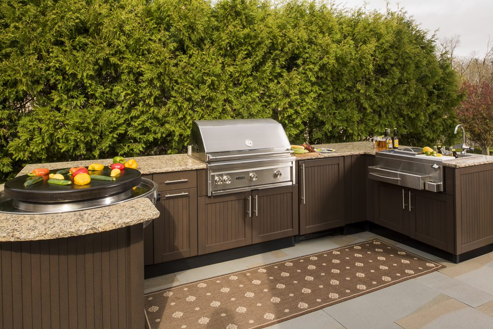 While materials like plastic and wood can suffer from humidity or extreme temperatures, stainless steel is durable for all regions and seasons, said Mitch Slater, president of Brown Jordan Outdoor Kitchens.