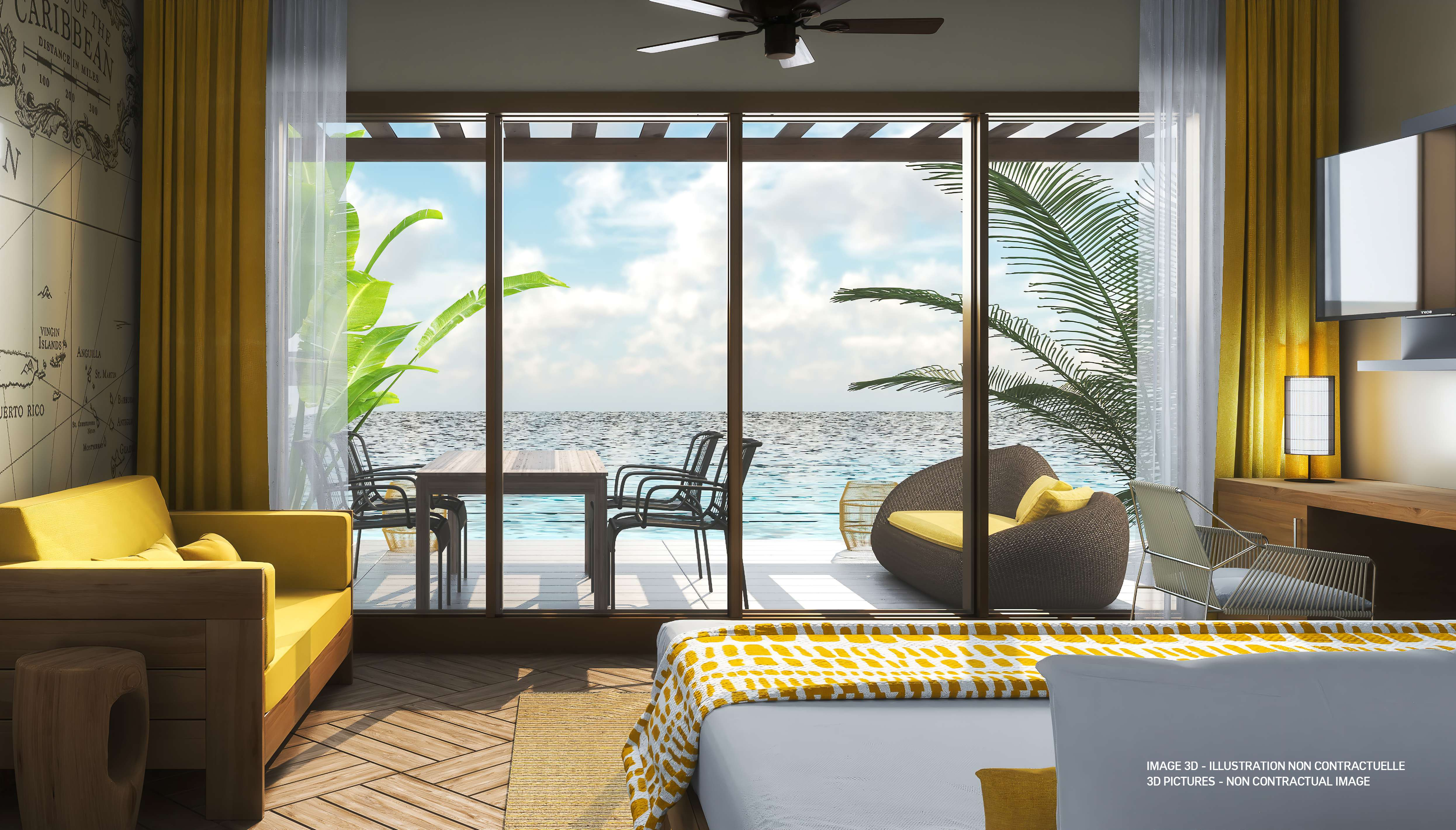 The Explorer Cove village has 158 family accommodations with large rooms.
