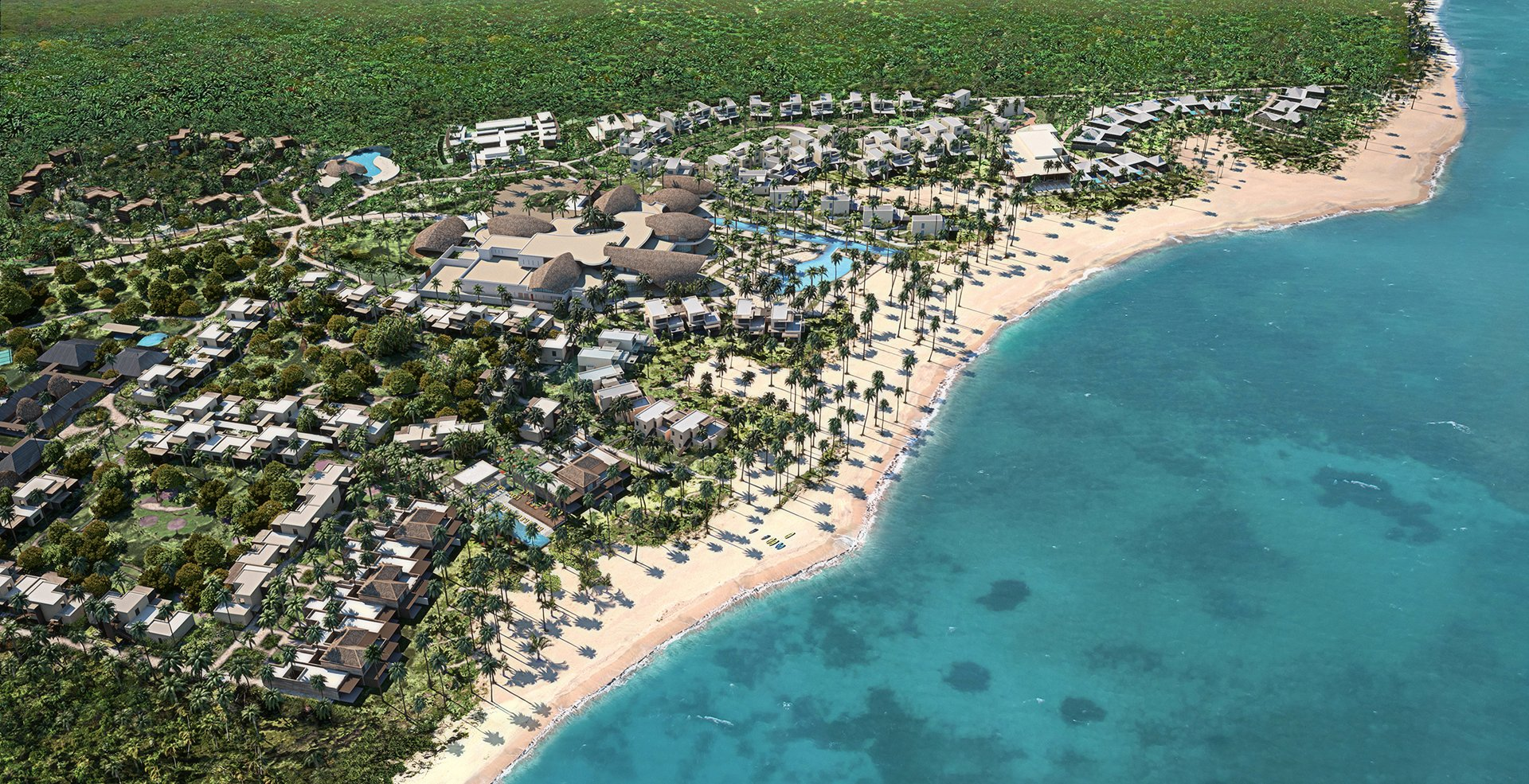 Before construction, Club Med worked with local government agencies on an in-depth environmental impact study of the resort's plans to ensure a minimal footprint and impact to Miches.