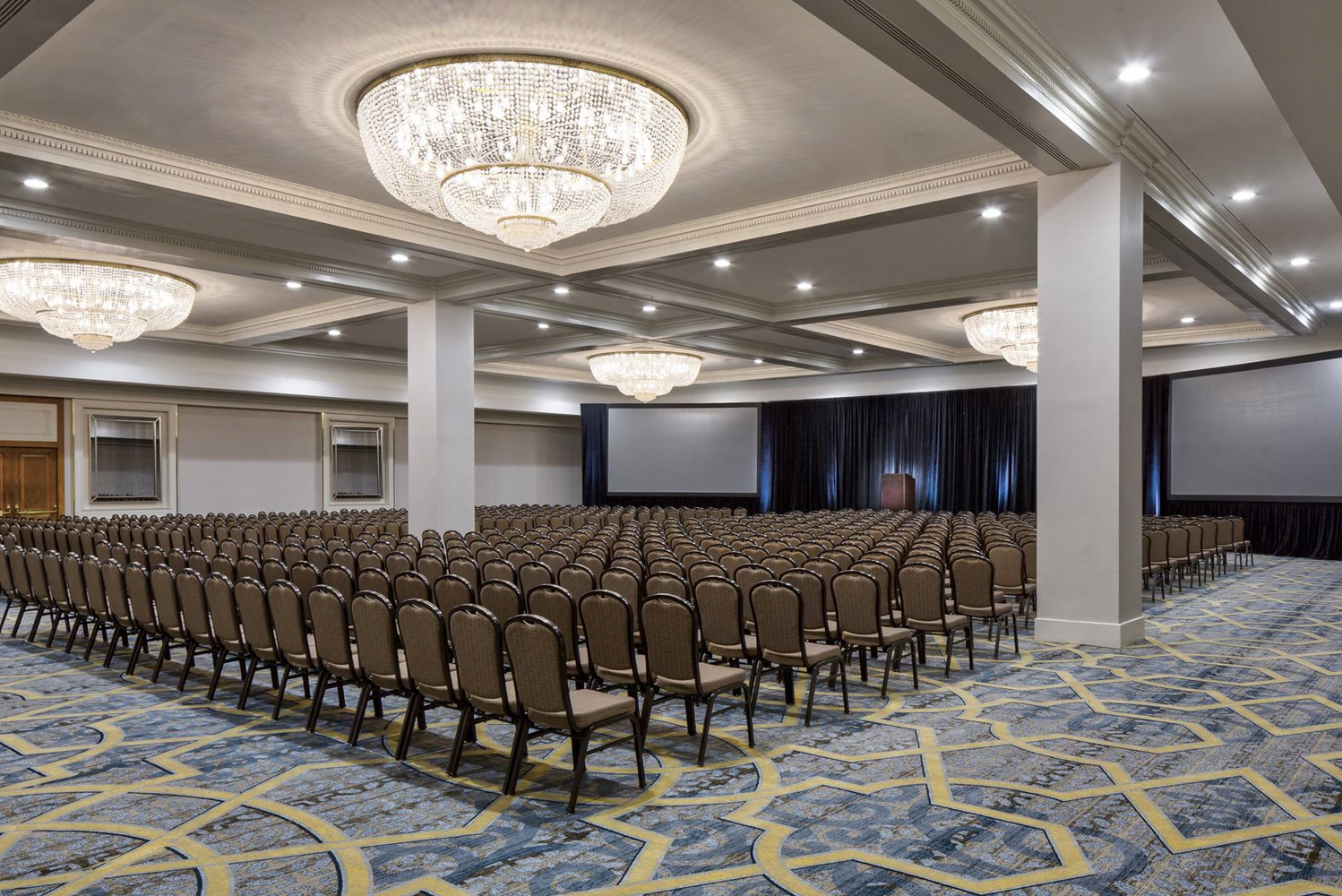 The meeting venues of the property include the St. James Ballroom, St. Charles Ballroom, Jefferson Ballroom and 16 separate meeting rooms.