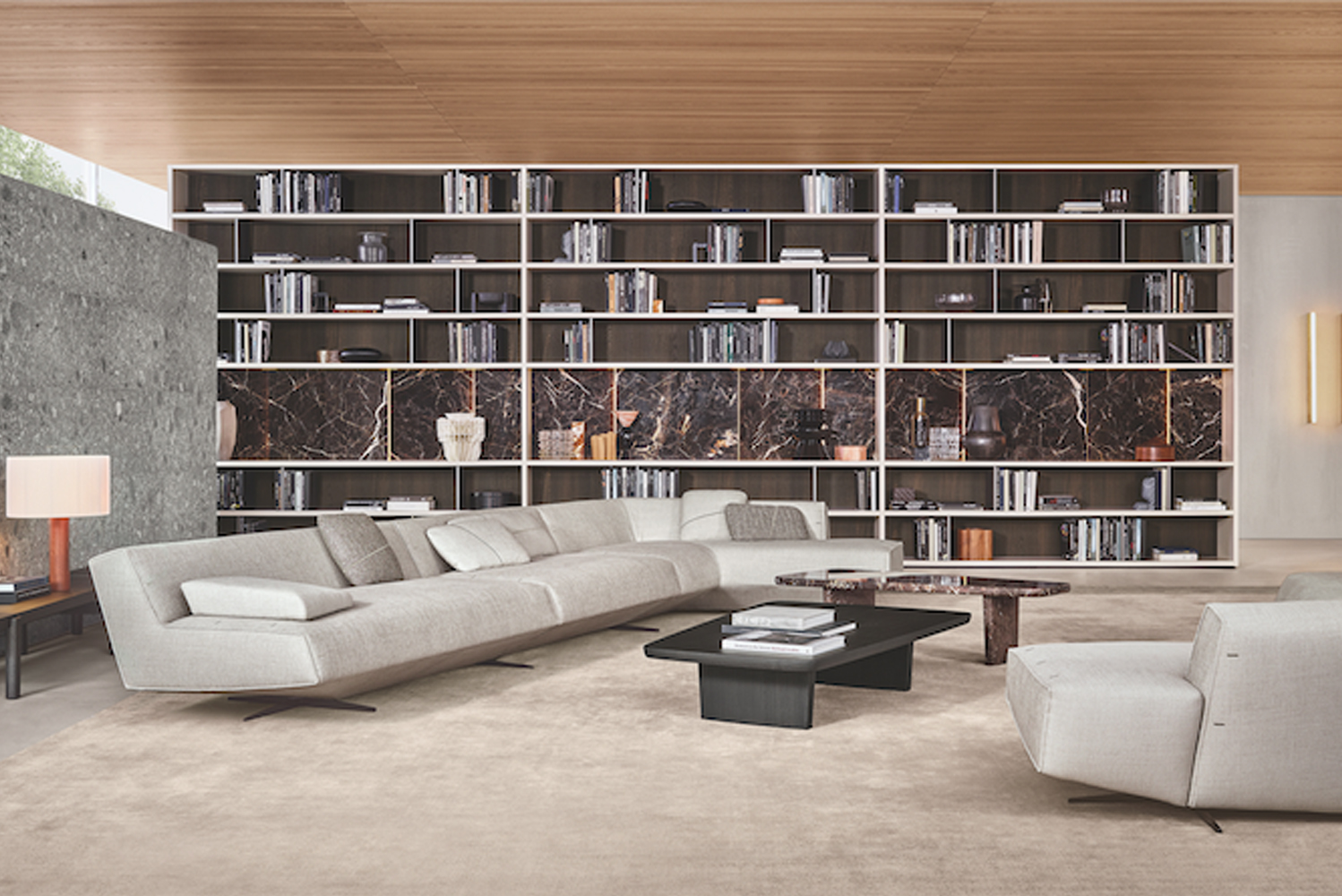 The collection includes the Sydney sofa, which has three-dimensional curves.