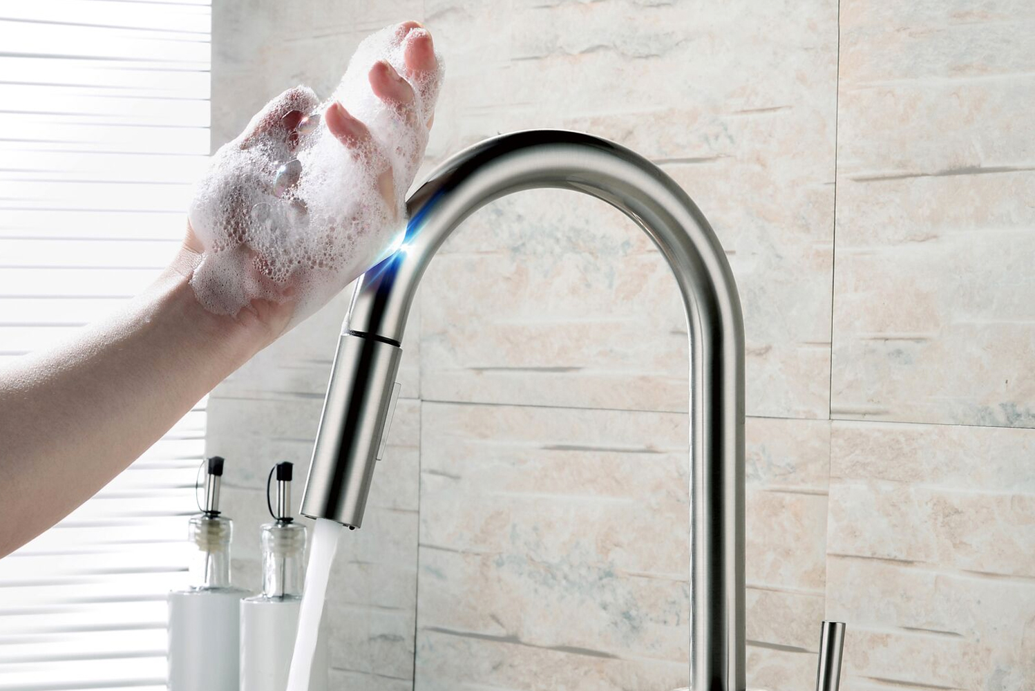 Lenova launched the TKO Touch faucets.