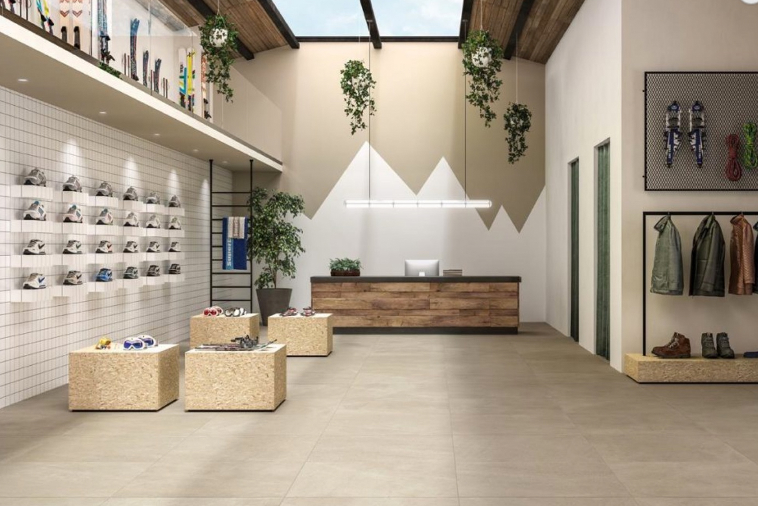 Blustyle launched the Yosemite collection of porcelain tiles.